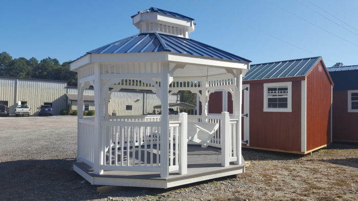 X VINYL GAZEBO bLUE ROOF