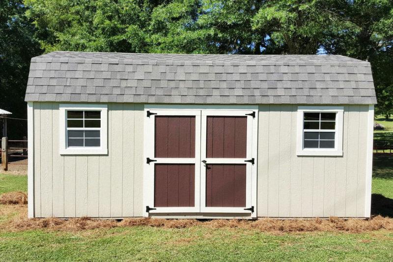 backyard shed dutch barn style from fisher barns in abbeville south carolina