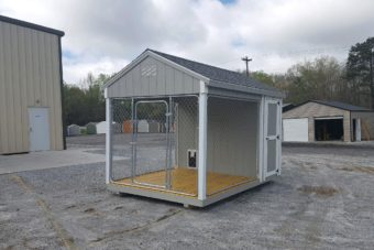 FB FISHER BARNS X DOG KENNEL LT GREY WHITE SLATE Outside Photo Mar