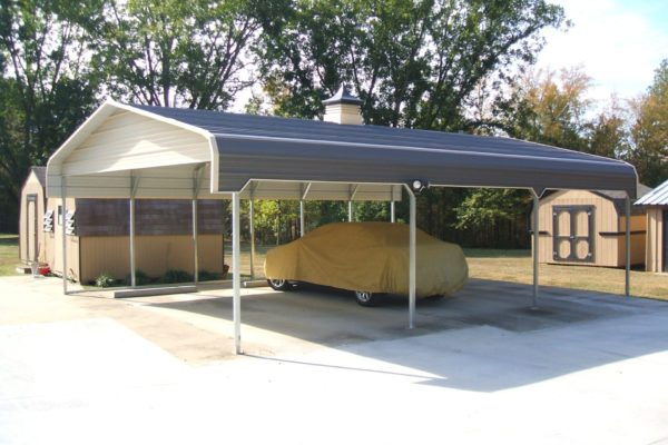 standard carport with side entry from fisher barns