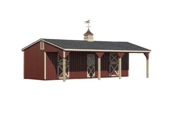 horse barns lean to barn