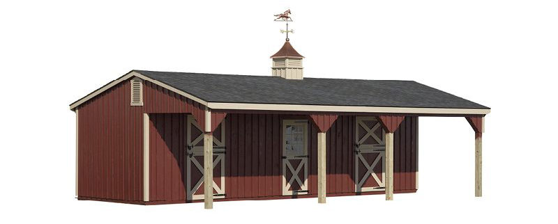 horse barns lean to barn