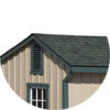 Architectural Shingle Roof run in horse barn